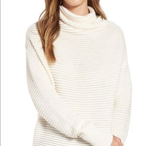 Leith Ottoman Knit Mock Neck Pullover Sweater